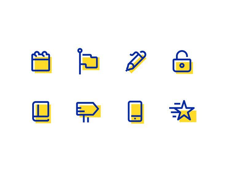 Fun Little Icons by Dan Fleming #Design Popular #Dribbble #shots