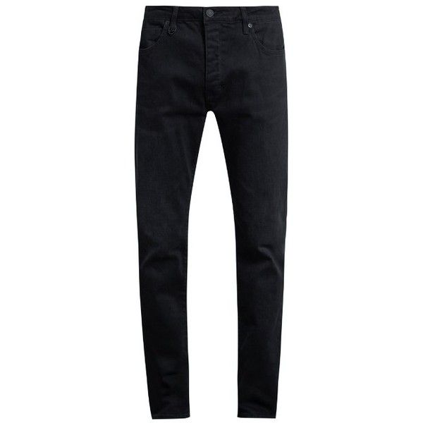 Neuw Denim Iggy skinny jeans ($100) ❤ liked on Polyvore featuring men's fashion, men's clothing, men's jeans, pants, men, menswear, bottoms, jeans, navy and mens jeans