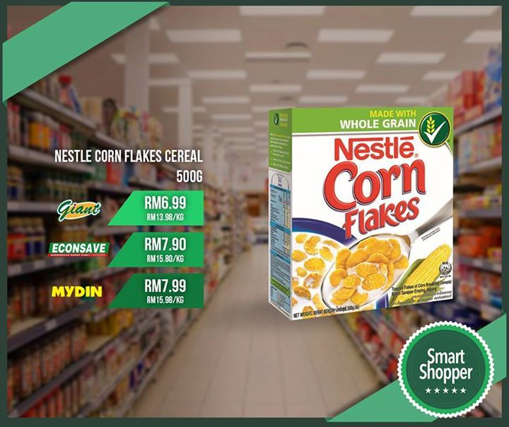 Nestle Corn Flakes Cereal 500g is now cheapest at Giant for only RM6.99 per pack today! Your fastest way to the best deals on your daily essentials.  Download here: smartshopper.my/get #fashion #style #stylish #love #me #cute #photooftheday #nails #hair #beauty #beautiful #design #model #dress #shoes #heels #styles #outfit #purse #jewelry #shopping #glam #cheerfriends #bestfriends #cheer #friends #indianapolis #cheerleader #allstarcheer #cheercomp  #sale #shop #onlineshopping #dance #cheers…