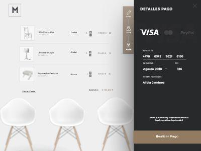 Payment. E-commerce furniture by Sara Miguel del Amo #Design Popular #Dribbble #shots