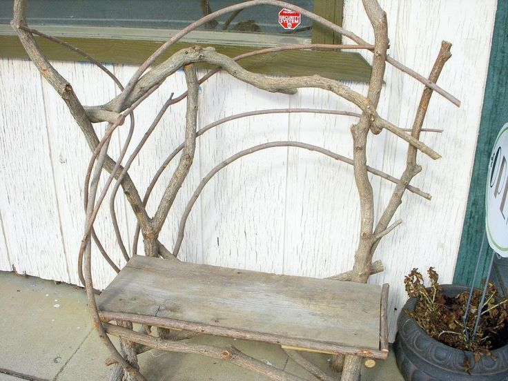 RUSTIC BENCH bent willow twig adirondack style hand crafted