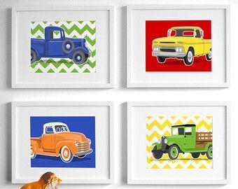 Art de pépinière de camion art vintage de camion camion