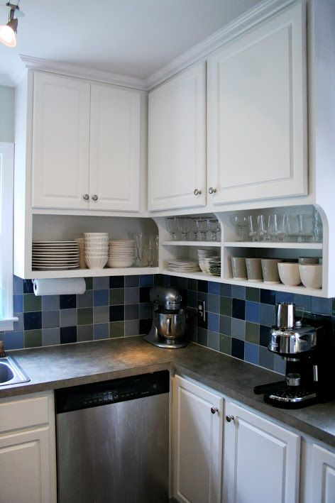 Open Kitchen Shelves With Corbels