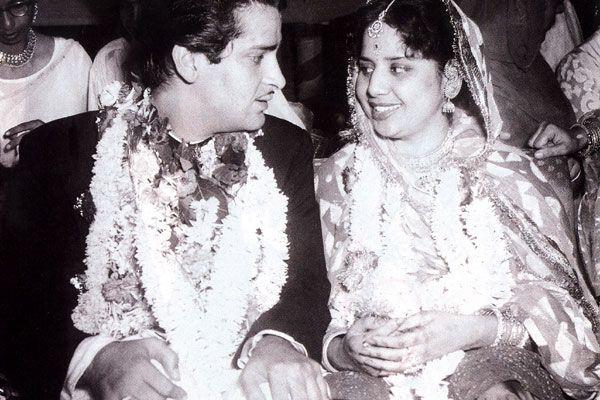 Wedding of Shammi Kapoor with Geeta Bali in 1955