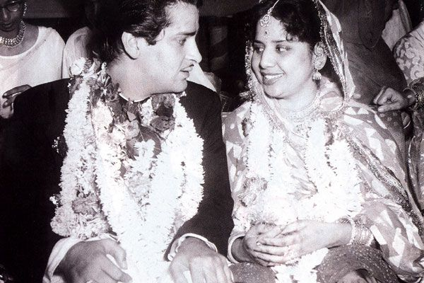 Wedding of Shammi Kapoor with Geeta Bali in 1955