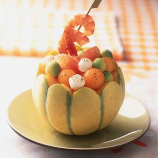 Salade de melon et avocat