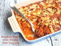 Mexican Beans with Cheesy Taco Topping