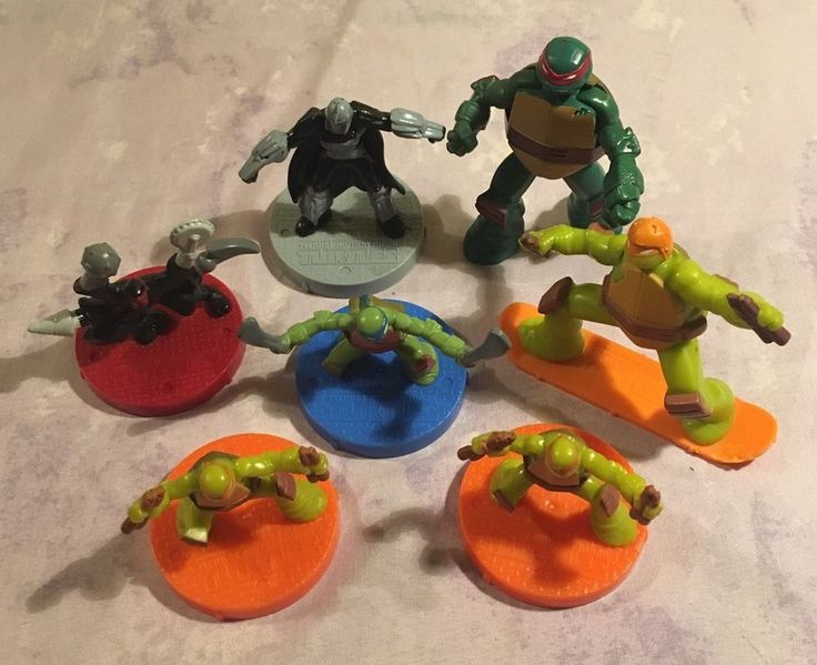 Teenage Mutant Ninja Turtles Lot of 7 Mcdonald's Toys Action Figures Cake Topper  | eBay