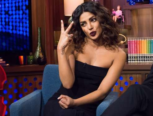 Priyanka Chopra puckers up while stopping by Watch What Happens Live in N.Y.C. - Bravo