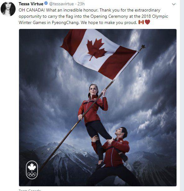 Olympics flag bearers