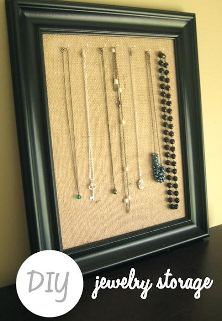 DIY jewelry storage. I have so many necklaces, I need to do this!