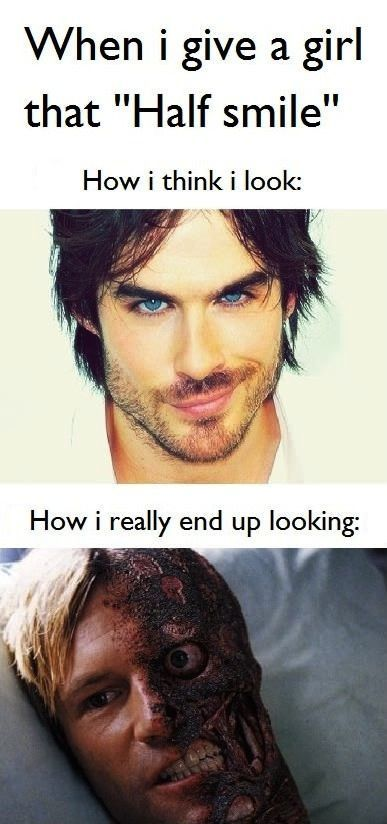 Nailed it.That Girls, Christian Grey, Too Funny, So True, Funny Stuff, Ian Somerhalder, Half Smile, So Funny, Can'T Stop Laughing