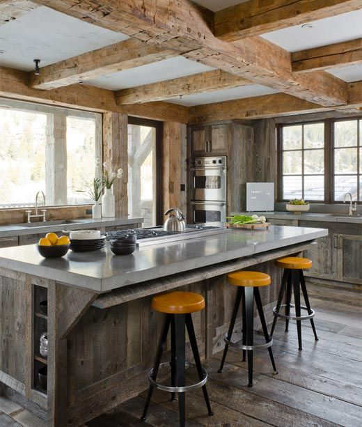 Rustic Modern Kitchen Ideas 144 best design - modern with rustic accents images on pinterest