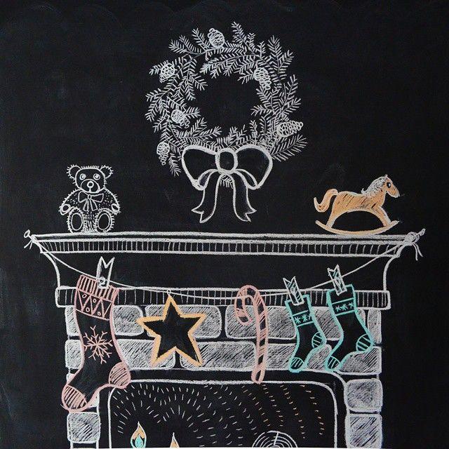 Рисуем мелом - впускаем новогоднее настроение в свой дом! #Новогодняялихорадка