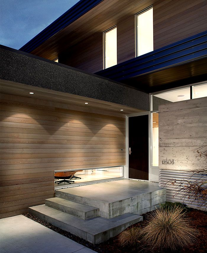 lighter colour timber cladding   Canadian Holiday House with Clear Architectural Lines