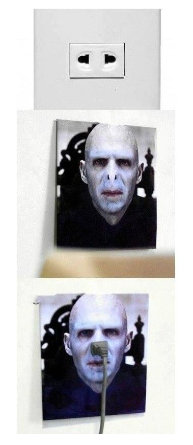 Brilliant.: Laughing, Plugs, So Funnies, Stuff, Awesome, Lord Voldemort, Things, Harry Potter Rooms, Outlets Covers