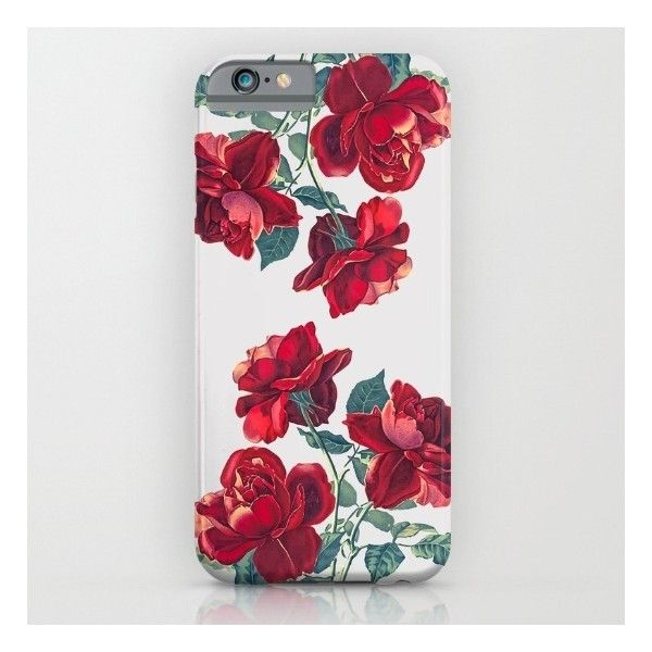 Red Roses iPhone iPod Case (51 NZD) ❤ liked on Polyvore featuring accessories, tech accessories, flowers and rose