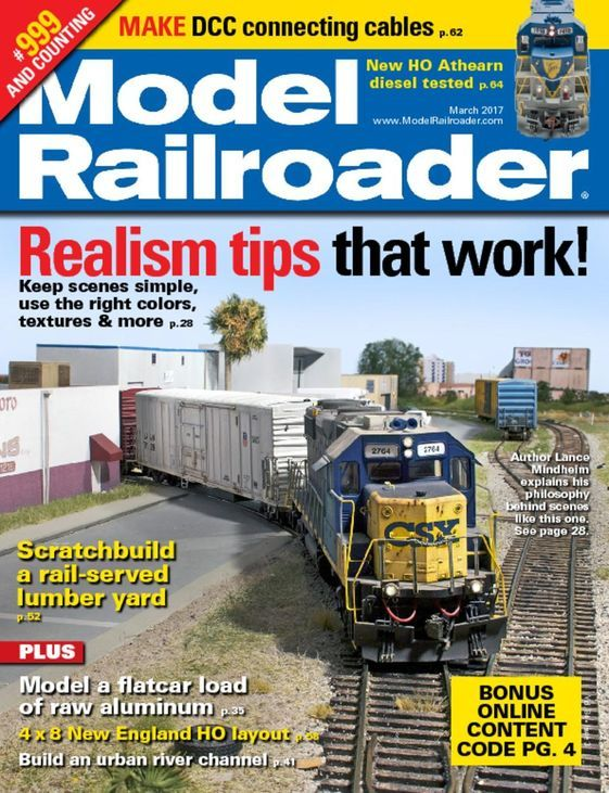 Buy Model Railroader Magazine Subscription| Rail Modelling Mag| Magazinecafestore.com #fashion #trends #magazine #rail #hobbies