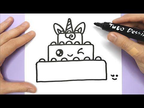Coloriage Gateau Facile.Tuto Dessin Dessin Kawaii Et Facile A Faire Youtube