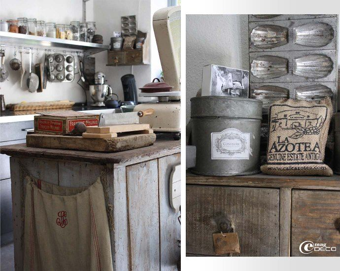 D coration de la cuisine avec des ustensiles anciens for Ustensiles de cuisine anciens