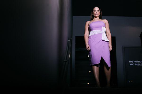 Fashion strapless cocktail dress
