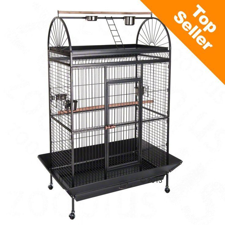 Animalerie  Cage Caesar pour perroquet  L 123 x l 82 x H 178 cm (2 paquets)
