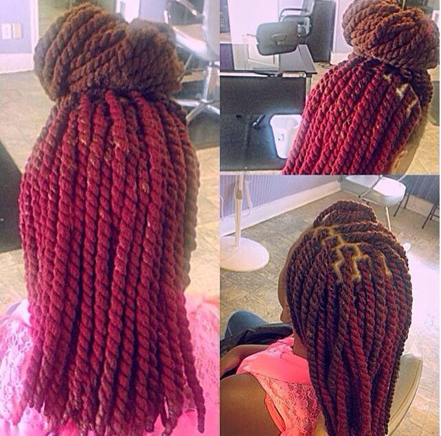 Yarn Twist Protective Styles Natural Hair Braids
