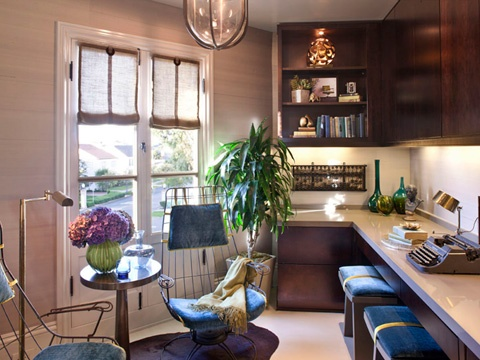 kendall wilkinson--elle decor showhouse--great office space