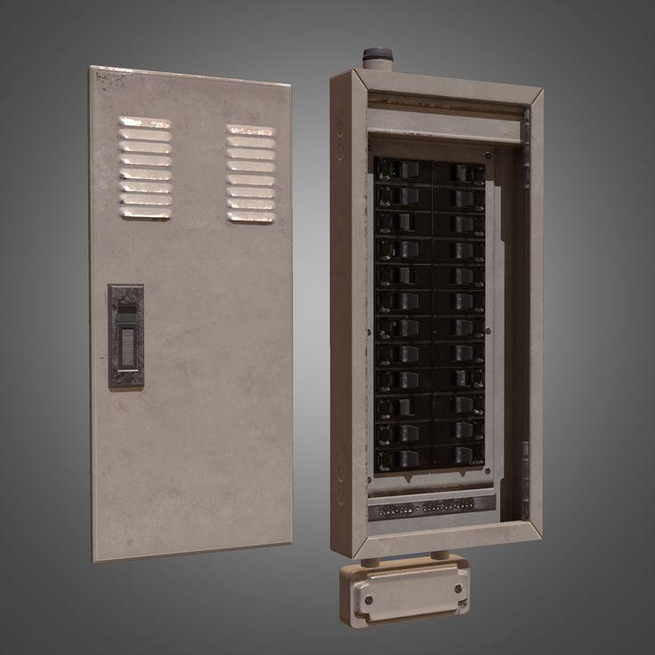 3D Model Electrical Fuse Box - 3D Model