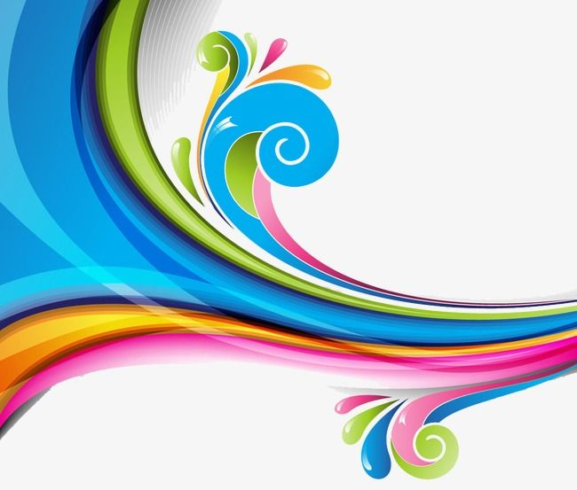 Color Waves Png And Clipart Color Wave Graphic Patterns Pattern Art