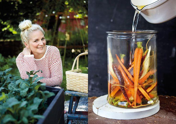 Matprofilen Lisa Lemke njuter av skördetiden och bjuder på sina godaste recept hemma i trädgården i Halland