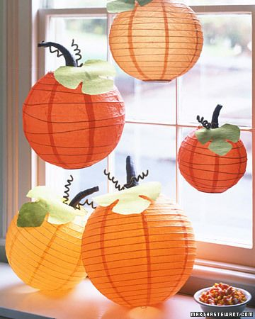 What a cute idea for Halloween or just fall decor - and not scary!