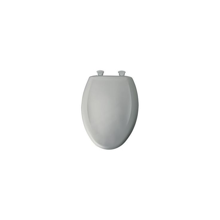 Bemis 1200SLOWT Elongated Closed-Front Toilet Seat and Lid with Whisper-Close® Ice Grey Accessory Toilet Seat Elongated