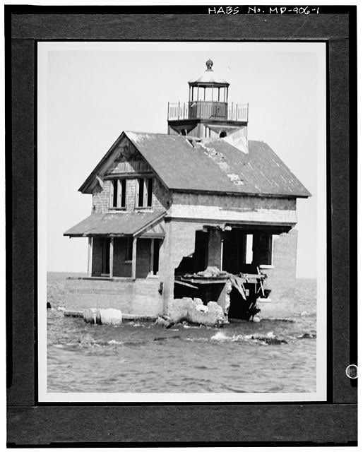 1. VIEW NORTH, SOUTHWEST (FRONT) AND SOUTHEAST ELEVATIONS - Cedar Point Lighthouse, Cedar Point at Patuxent River & Chesapeake Bay, Lexingt...
