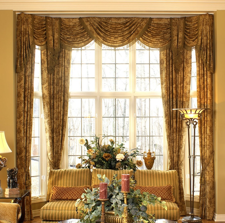 Elegant draperies drapery treatments pinterest style for Elegant windows