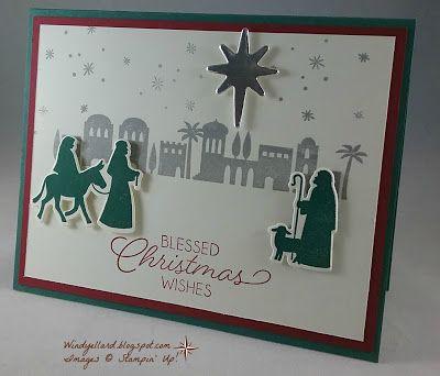 Windy's Wonderful Creations: Night In Bethlehem, Stampin' Up!, Night in Bethlehem, Bethlehem edgelits dies