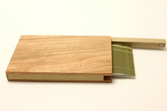 wood business card holder by InelasticGoods on Etsy, $40.00 @Etsy