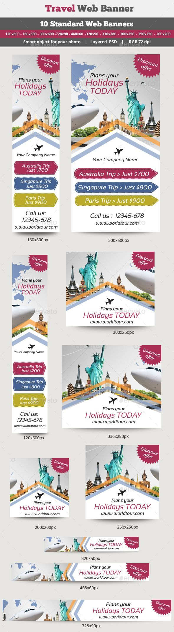 Travel Banner Template PSD | Buy and Download: http://graphicriver.net/item/travel-banner/8913261?WT.ac=category_thumb&WT.z_author=surajkhatri&ref=ksioks