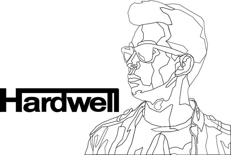 Hardwell poster illustration process by Hillary Njo