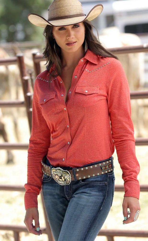 60% off retail!! last one! CRUEL GIRL RODEO Western RED Barrel SHOW RHINESTONES BLING  SHIRT COWGIRL  NWT M #CruelGirl #Western