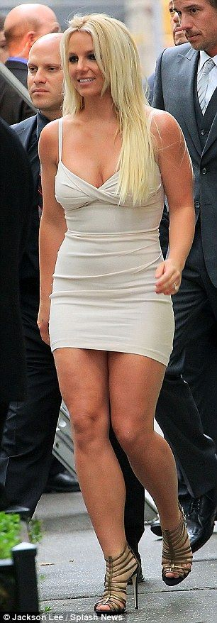 Forgot to swap shoes: Britney may have changed dresses, but her footwear slipped her mind
