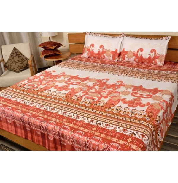 Cotton Bedsheets with Two Pillow Covers   Bed Sheets OnlineHome. 50 best Buy Home and Kitchen Accessories Online at Best Price in