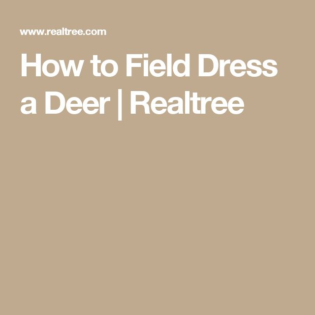 how to field dress a deer After hunting a deer comes a very important task that you must do very fast to preserve the meat of the deer below you will find two methods to learn how to field dress to deer in this way, you will have simple methods that you will gradually improve before going into the details ofread more.