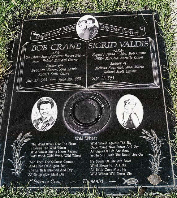 Bob Crane, Westwood Memorial Park, Los Angeles, CA (new gravesite)