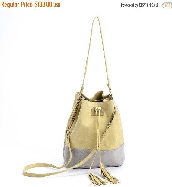 На ведро мешок продажу, шнурок сумки, кожа ковша сумка, ручной сумки, Продажа!