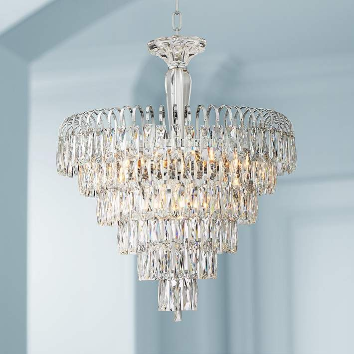 Claudine 21 1 2 Wide 11 Light Crystal Chandelier 63c72 Lamps