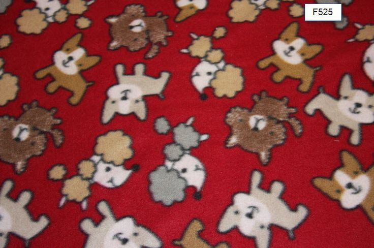 Red Dog Fleece Fabric Dog blanket Fleece Fabric Store dog fabric Craft sewing quilting fleece fabric free shipping available- SHIPS FAST by FabricPremier on Etsy