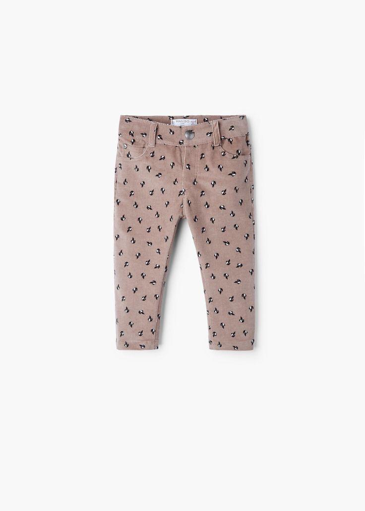 Corduroy broek met print -  Kinderen | MANGO