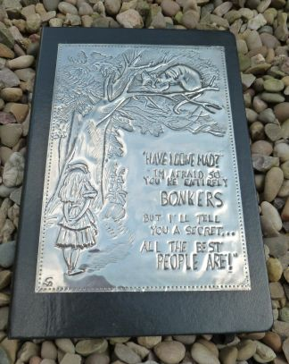 Alice in Wonderland inspired journal by Caroline @ Pewter Concepts. 8/16