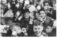 Children celebrating Victory Day in Como Park, 13 September 1945.